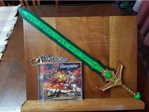 emerald sword props hermes trismegistus emerald emerald sword epic sword esmeralda espada green sword luca turilli medieval weapon power metal rhapsody rhapsody fire smaragdine table sword tabula smaragdina emerald sword weapon