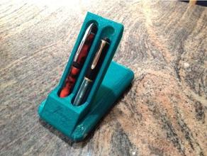 folding 2-pen stand case organization 2-pen case folding pen case fountain pen case fountain pen stand pen case pen stand