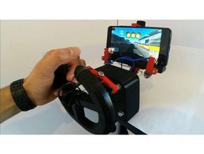 gaming steering wheel smartphone gadget 3d printed toys & games diy gadgets gaming smartfone whell