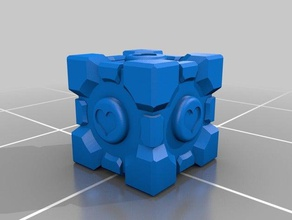 portal companion cube one part props companion cube companion cube portal companion cube portal 2 portal portal2 portal 2 single part single print weighted companion cube