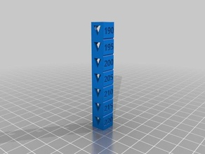 torre temperatura pla 220-190 3d printing tests pla temperatura temperature torre tower