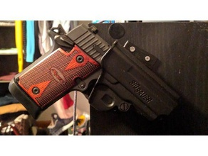 sig plastic holster mount p938 p290 sport & outdoors edc gun guns holster mount p290rs p938 sig sig sauer