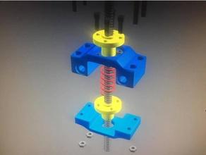 anti back-lash lead screw nut mount 3d printer parts 3d printer anti-backlash lead screw lead screw nut mount nut