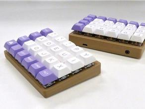 let's split keyboard angled case electronics let's split mechanical keyboard