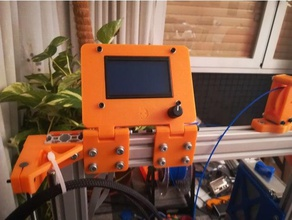 lcd display mount 40x20 extrusions reprapdiscount full graphic 3d printer parts 40x20 extrusions am8 mount am8 upgrade anet a8 lcd holder lcd mount reprapdiscount reprapdiscount full graphic smart controller