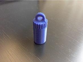 keychain pill bottle - no glue support keychains chain key key chain keychain keyring mini pill pill bottle pill box pill container pillbox