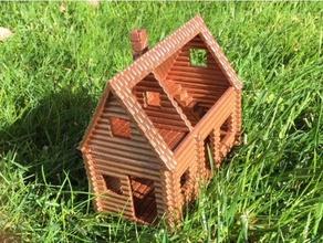log cabin buildings & structures cabin dollhouse homestead homesteader homesteaders log log cabin logs miniature building model railroad railroad small building small house wood house