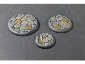 openforge miniature bases cobble round rounded toy & game accessories briskars guild ball hordes malifaux miniature miniatures miniature base openforge openforge2 tabletop terrain warmachine warmahordes