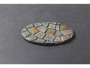 openforge miniature bases cobble oval toy & game accessories 40k 40k warhammer age sigmar dnd dungeon miniature miniatures miniature base openforge openforge2 pathfinder rpg tabletop terrain tile warhammer warhammer40k warhammer 40k