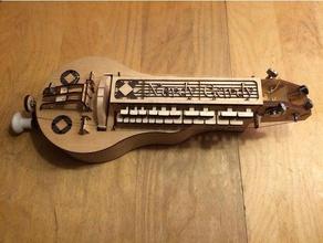 nerdy gurdy - v5 music hurdy gurdy lasercut laser cut music musical instrument nerdy gurdy
