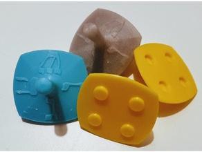 dreidel - split toy & game accessories chanukah chanukah toy top spin dreidel blender dreidel hanukkah hebrew jewish sevivon
