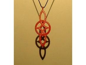 celtica, simbolo dell'amore ciondolo moda 3dprintable il celtic il fascino cool facile eterna veloce appendiabiti gioielli gioielli gioielli gioielli amore la collana ciondolo veloce sketchup simbolo