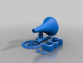 toot - 5-8 ghz 20 rf horn 3d printing 5 ghz 6 ghz 7 ghz 8 ghz horn rf horn