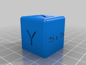 25 x 25 mm calibration cube 3d printing tests bed calibration calibration calibration cube calibration part calibration print calibration test cube hypercube evolution printer calibration sparkcube z calibration