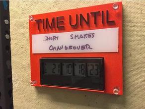 countdown timer plaque office corkboard countdown countdown clock cubicle plaque timer time until uhmw