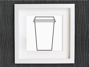customizable origami disposable coffee cup decor 2d art bracelet coffee cup customizable customized customizer decor decoration decorations decorative disposable disposable cup earring geometric geometrical home decor jewelry lowpoly low poly necklace origami pendant ring starbucks wall decoration