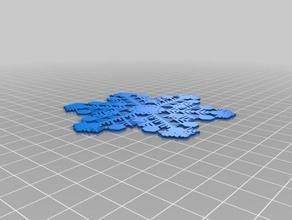 carina snowflake interactive art customized
