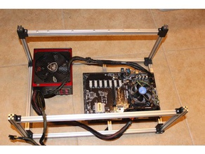 mining rig frame 1515 extrusion v2 stackable coins & badges gold mining gpu mining mining mining company mining equipment mining rig