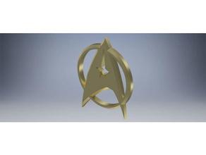 star trek symbol autodesk& stl file models startrek star trek star trek badge star trek enterprise star trek tng star trek voyager symbol