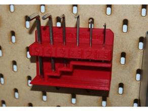 hex wrench holder ikea skadis 3d printer accessories hex hex-wrench hex-wrench-holder hex wrench hex wrench holder ikea ikea skadis pegboard pegboard hook peg board skadis tool holder