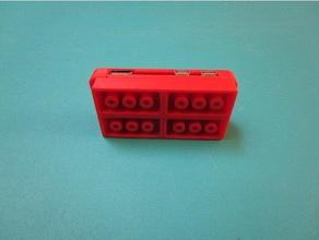 lego attachable raspberry pi zero w case electronics case lego raspberry pi raspberry pi case raspberry pi zero w rpi rpi zero w rpi zero w case