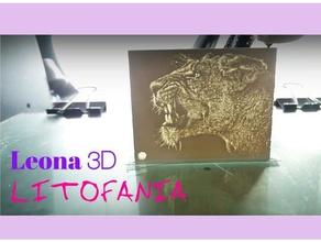 litofania leona art 3dlito leona lioness lithophane litofania relieve