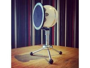 blue snowball pop-filter audio blue snowball microphone popfilter pop filter snowball