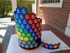 3d periodic table physics & astronomy 3d periodic table 3d design education argentina atom chemical chemical engineering chemistry chemistry model chemistry symbols ciencia cilindrical educational engineering hexagonal honey pattern jujuy learning periodic periodic table physical chemistry qu mica qu mico rotatory science science education skorepa tabla periodica table