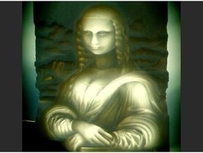 mona lisa lithophane art da vinci gioconda ilusion optica leonardo da vinci lithophane litofania map depth mona lisa relief relieve