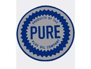 pure oil co sign automotive 3d badge 3d sign auto auto sign automobile automobile sign automotive automotive sign badge oil oil sign popular pure pure oil pure oil badge sign trending vintage vintage sign