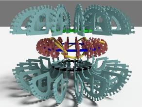 nested abha rodin coil frames - 1st & 3rd order electronics 1st order 36x36 36x9 3rd order abha coil abha torus former rodin rodin coil toroid torus vortex vortex coil