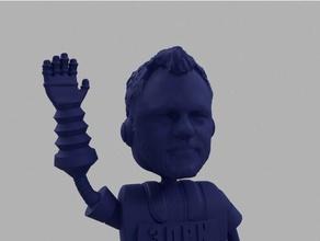noree joel bot scans & replicas 3dprintingnerd 3d printing nerd bot daniel noree five funny highfive high five joel joeltelling joel telling joke mask nerd nerdy noree robot silly statue statuette