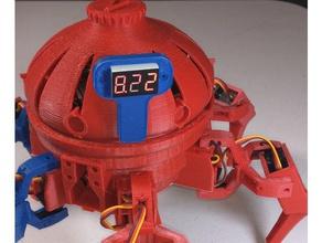 vorpal hexapod battery voltmeter mount robotics battery cover hexapod voltmeter vorpal