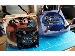 creality ender 2 60mm noctua fan duct 3d printer parts 60mm cooling fan creality ender 2 fan duct fan mount noctua noctua fan 60mm