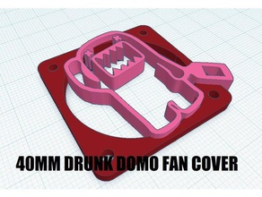 40mm drunk domo fan cover 3d printer accessories 40mm fan 40mm fan cover 40mm fan grill 40mm fan guard 40mm fan mount custom domo extruder fan extruder fan cover fan fan cover fan gaurd japan japanese japanese animation japanese culture jdm tv show