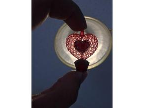 voronoi heart pendant cupcake base art cupcake heart pendant voronoi