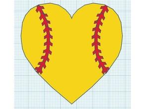 softball heart 3d printing cute heart softball