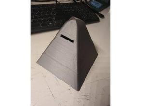 pyramid piggy bank cash bank containers cash cash bank change change box coins money money box money saving piggy bank savings