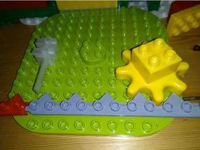 duplo gear rod & chain construction toys duplo duplo compatible duplo gears lego duplo
