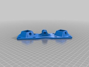 rcnc x belt version - modified square tube holders 3d printing bracket modified r-cnc router