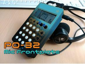 po-32 mic frontplate audio case cdb crashdebug po-32 po-33 po-35 pocket operator teenage engineering