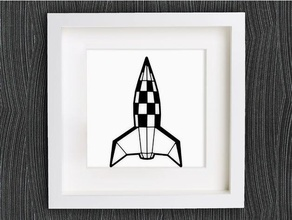 customizable origami retro rocket vehicles 1950s 2d art 50er 50s bracelet customizable customized customizer decor decoration decorations decorative earring geometric geometrical home decor jewelry lowpoly low poly necklace openscad origami pendant rakete retro retro rakete retro rocket ring rocket space wall decoration