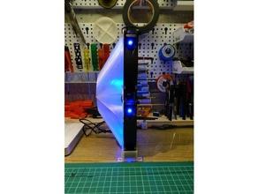 very basic solder fan assembly 12cm pc fans electronics 12cm 12cm fan mount fan fan duct soldering