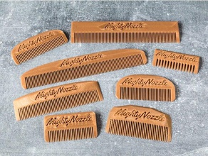 customizable comb bathroom beard beard comb comb customizable customized customizer hair hair comb openscad personalizable travel traveling travel comb