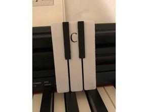 piano bookmark page marker black white bookmark customizable piano piano gift piano teacher piano keys