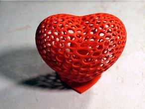 voronoi heart w stand sculptures heart valentine voronoi