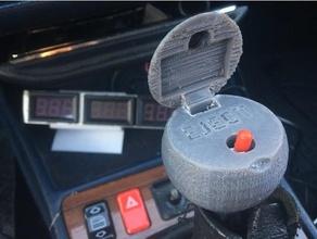 james bond shift knob secret button ejection seat mercedes 190 3d printing 190 ejection seat james bond mercedes mercedes 190 mercedes benz secret button shift knob