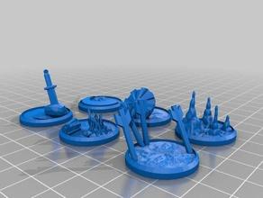 figure bases - set 9 25mm - 35mm miniatures models 25mm 25mm base 25mm bases 25mm miniature 35mm 35mm bases base bases dnd dnd miniature dnd prop figure figures miniature miniatures pathfinder pathfinder pawns