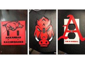 arkansas razorback switch outlet covers household arkansas arkansas razorbacks electrical outlet electric outlet light switch light switch plate outlet cover power outlet razorbacks wall outlet