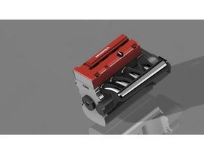 honda k20a engine r c vehicles b18 crawler dc5 diorama drift engine ep3 exhaust fwd honda japan japanese jdm k20 manifold mazda model nissan rc drift scale model toyotsa